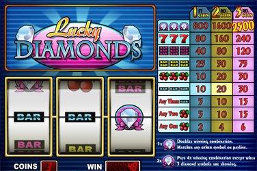 Lucky Diamonds Play n GO Spielautomat
